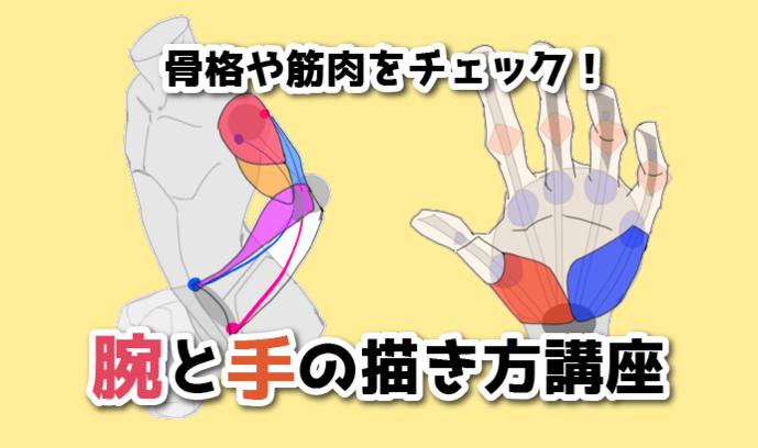 骨格や筋肉をチェック! 腕と手の描き方講座