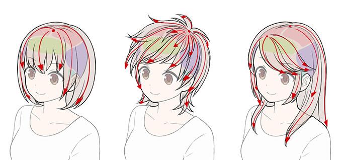初心者が陥りがちな誤った髪の描き方と解決法 いちあっぷ
