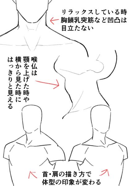 男性らしいセクシーさを演出イケメン男性キャラの描き方身体編