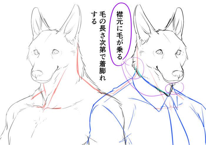 身体の仕組みから考える 獣人を描き方講座 いちあっぷ