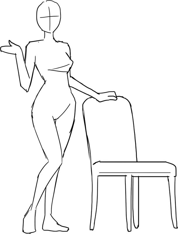座っ てる 人 イラスト