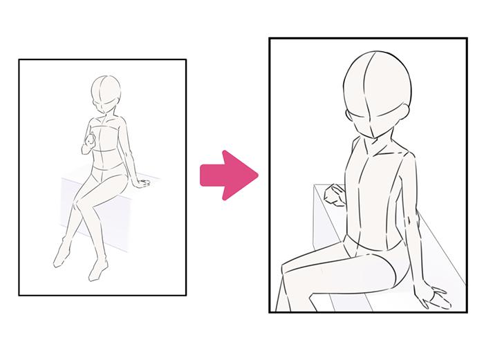 簡単にイラストを上手く見せるテクニック 構図編 いちあっぷ