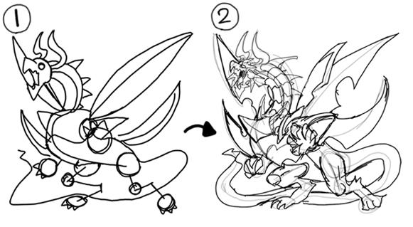 カッコイイはかわいいは 記号で表すドラゴンの描き分け方 いち