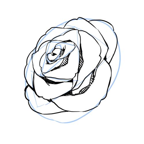 シンプルな記号に置き換えて描くのがコツ 花の描き方講座 いちあっぷ