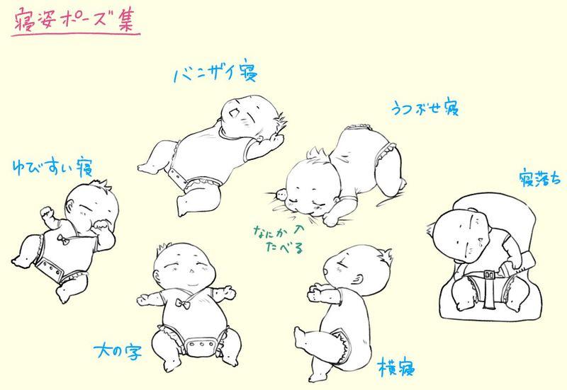 赤ちゃんの体の描き方と らしく 見えるポイントとは 赤ちゃんの