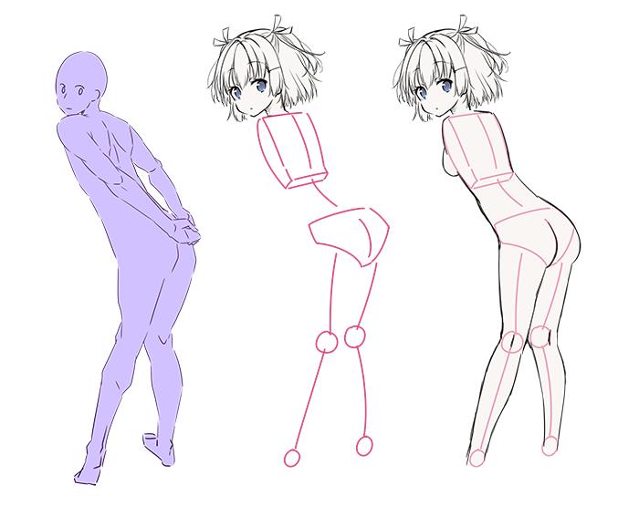 初心者のなぜか上手く描けないを解決全身の描き方テクニック 実践